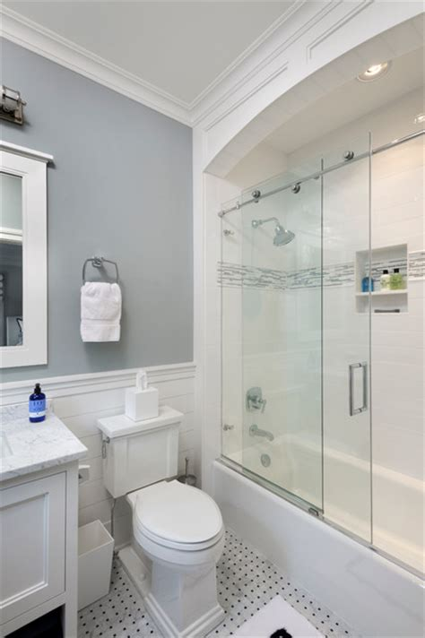 Nantucket Style Bathrooms by Nantucket Shingle Style Beachside Home Guest Bathroom