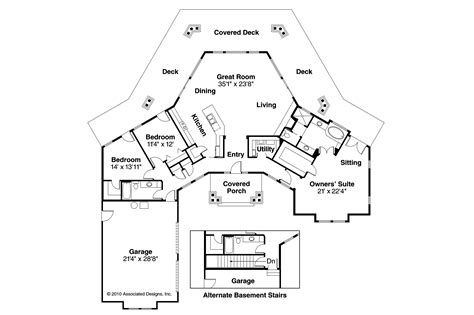 view home plans craftsman house plans cedar view 50 012 associated designs