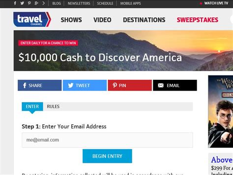 Travel Channel Sweepstakes Rules - travel channel discover america sweepstakes