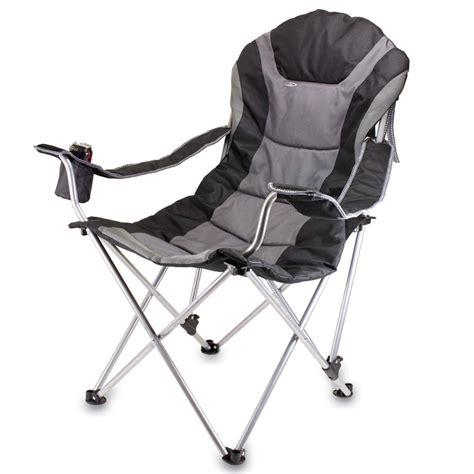 Reclining Folding Chair Reclining C Chair Black Picnic Time 803 00 175