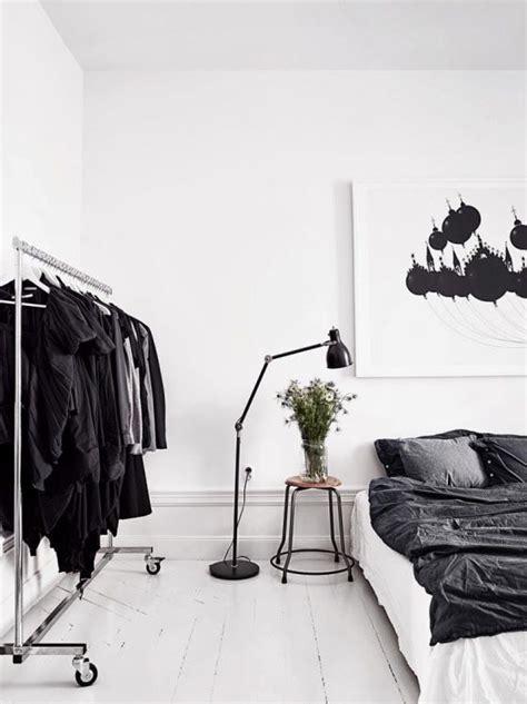 black and white home design inspiration zwart wit slaapkamer interieur insider