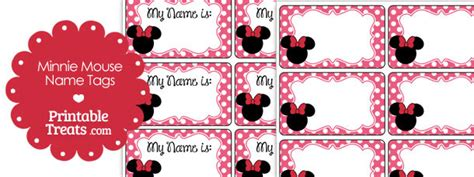 printable minnie mouse name tags pink minnie mouse name tags printable treats com