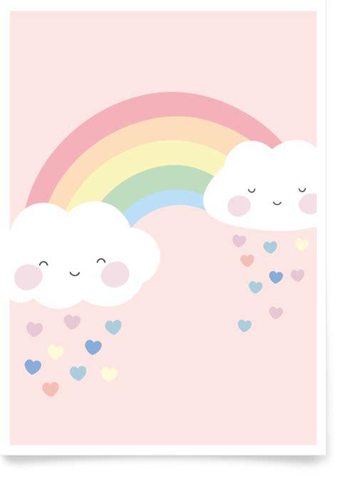 kinderzimmer bilder rosa kinderzimmerbild regenbogen rosa fabeltal