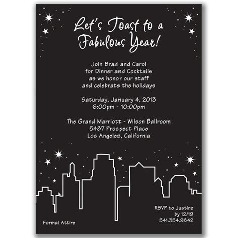 new year dinner invitation wording in the city invitations for new year s
