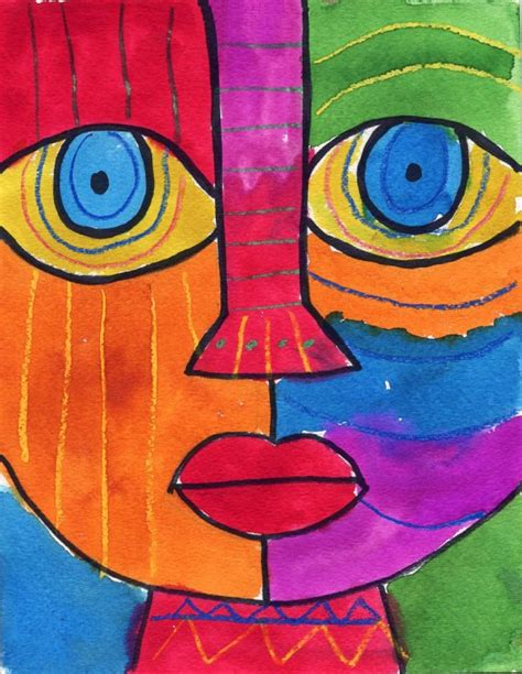 abstract pattern for project abstract face art projects for kids