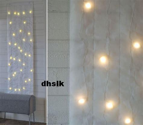 ikea kallt wall decoration 40 bulbs white fabric led