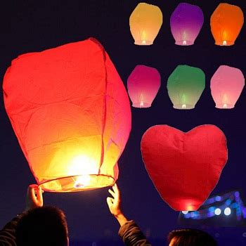 Make Flying Paper Lanterns - paper lanterns for creating a ambience