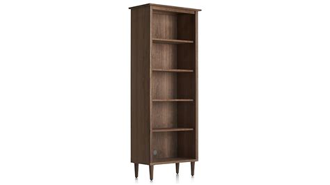 crate and barrel bookshelves kendall walnut bookcase crate and barrel