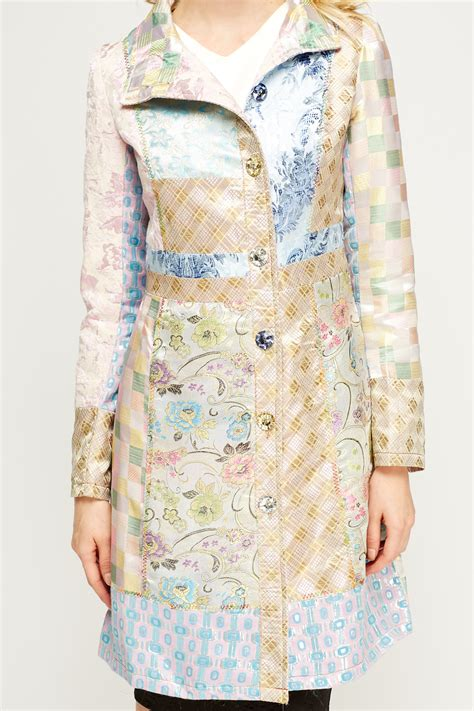 Patchwork Womens - light pink patchwork jacket just 163 5