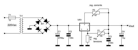schema alimentatore stabilizzato 12v schema elettrico alimentatore stabilizzato regolabile