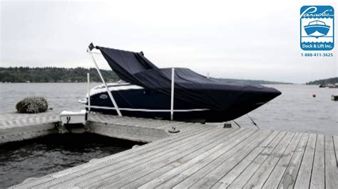 boat dock canopy covers sunstream automatic boat cover youtube