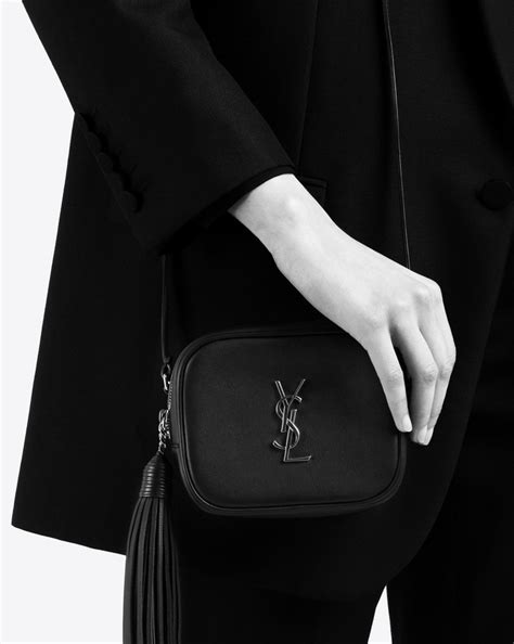 saint laurent blogger bag  black leather yslcom