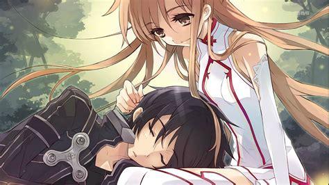 wallpaper anime sao kirito and asuna sword art online wallpaper 1225762