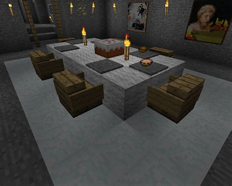 Dining Table In Minecraft Minecraft Furniture Inspirations