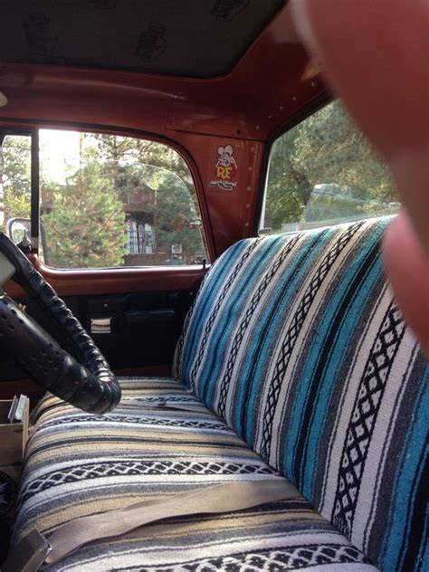 Mexican Blanket Upholstery by 1970 Sweptline Interior Kustom Mexican Blanket Seat