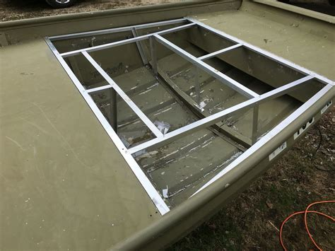 jon boat hatch my jon boat build boat stuff pinterest boating bass