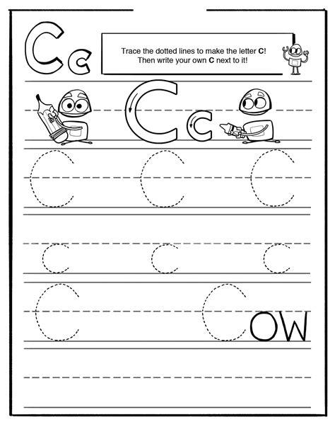 Letter C Worksheets by Trace Letter C Worksheets Activity Shelter