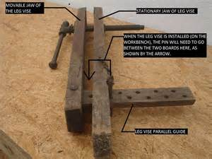 woodworking leg vise fine wood project and diy
