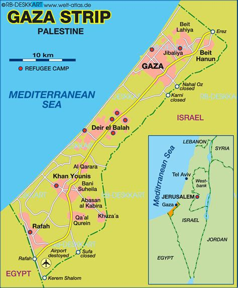 gaza map gaza and the west bank map
