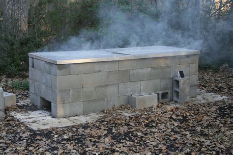 Building A Pit With anatomy of a cinder block pit barbecue