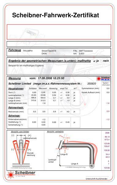 Motorrad Mit Rahmenschaden Verkaufen by Motorrad Rahmenvermessung Kfz Sachverst 228 Ndigenb 252 Ro Rissling