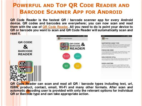 barcode reader app for android powerful and top qr code reader and barcode scanner app for android