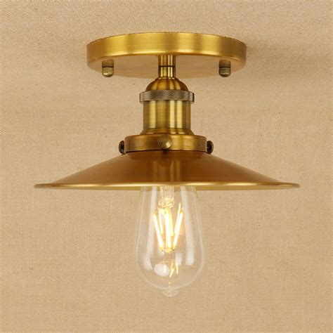 Gold Bedroom Ceiling Light retro creative industrial style ceiling l gold