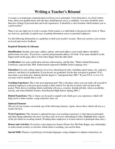 resume first time resume ideas