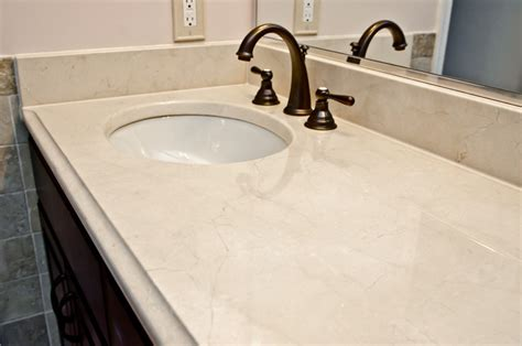 Marble Countertop For Bathroom by Crema Marfil Marble Modern Vanity Tops And Side