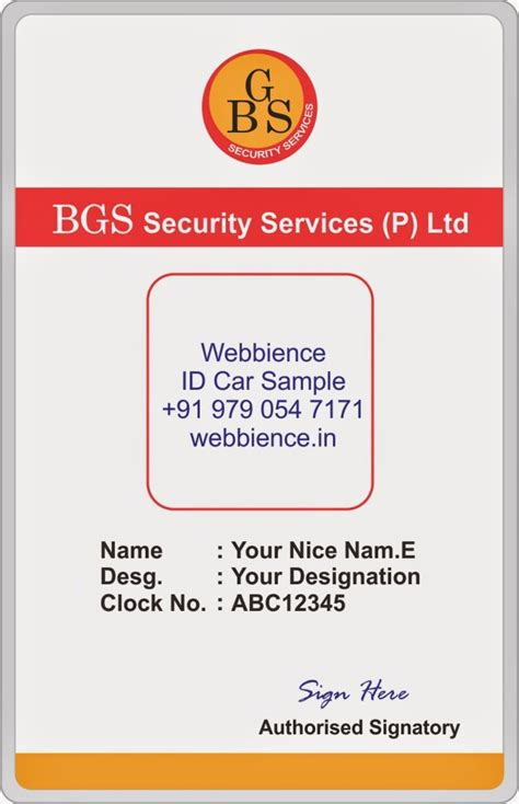 id card design word template galleries secuity company id card templates designs