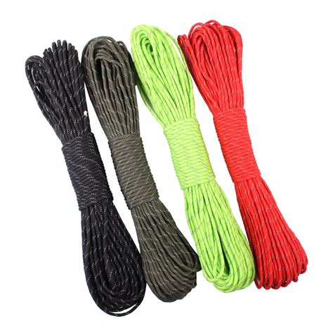 Tali Paracord 7 31 Meter free shiping 12 colors reflective paracord 550lb 7 strand 100ft100 31 meter survival
