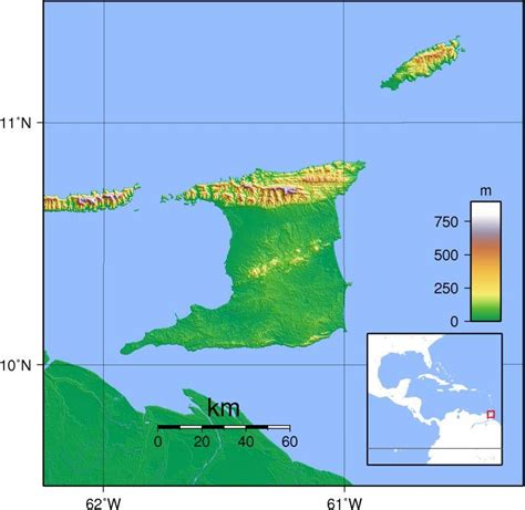 and tobago map and tobago tourist destinations