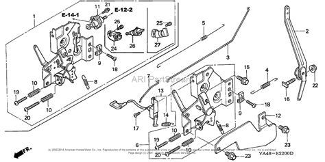 honda lawn mower parts diagram honda hra215 sxa lawn mower usa vin mzal 6000001 to