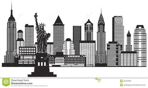 new york city skyline clipart clipartsgram