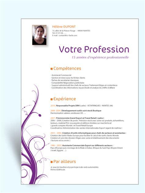 model cv professionnel word gratuit modele cv ressources humaines gratuit cadres cv pinterest