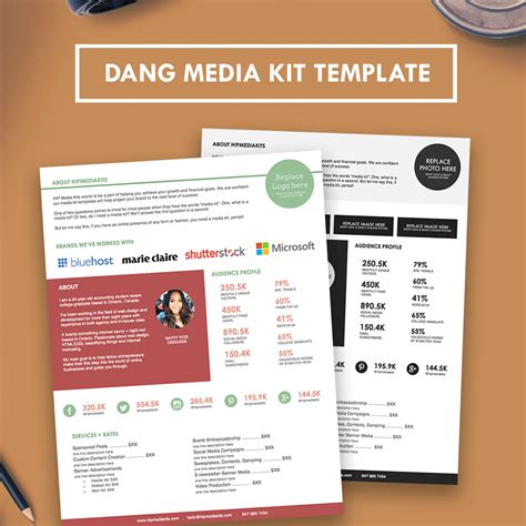 Media Kit Template by Professional Media Kit Press Kit Hipmediakits