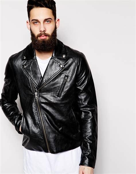 cheap black biker lyst cheap monday faux leather biker jacket triple a
