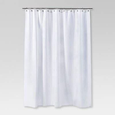 black waffle shower curtain waffle weave shower curtain white threshold target