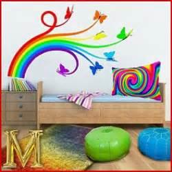 Zebra Print Stickers For Walls rainbow theme bedrooms rainbow mural stickers rainbow