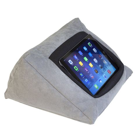ipad pillow for bed ipad cushion pillow stand holder grey for ipad and other