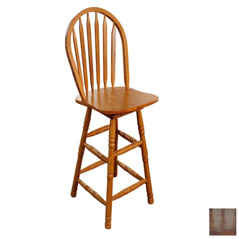 Arrowback Bar Stool by Shop Tms Furniture Arrowback Oak 30 In Bar Stool At Lowes
