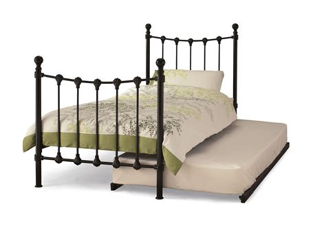 marseilles 3ft single black metal bed frame guest bed
