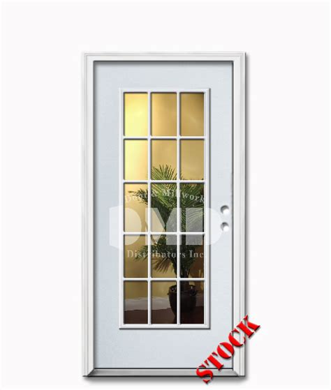 15 Light Exterior Door 15 Lite Clear Glass Steel Exterior Door 6 8 Door And Millwork Distributors Inc Chicago