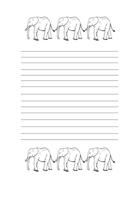 elephant writing paper elephant theme signs editable by kindergartencouture