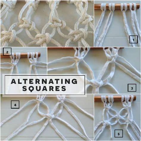 Easy Macrame Patterns - diy macrame badminton net easy macrame knots the