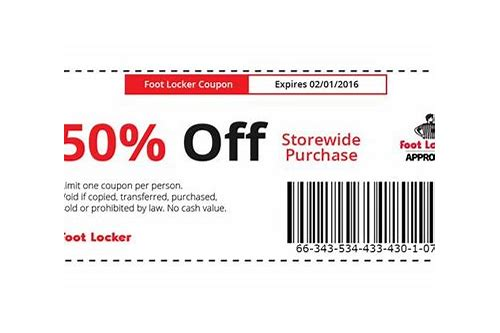 foot locker coupons 2018 uk