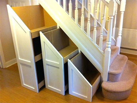 bench under stairs clear storage bins oak pull out under stairs drawers 1