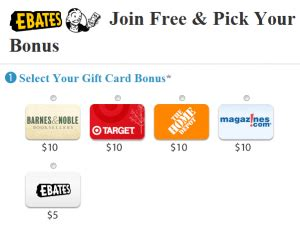 Free Gift Card When You Sign Up - ebates free 10 gift card sign up bonus couponing 101