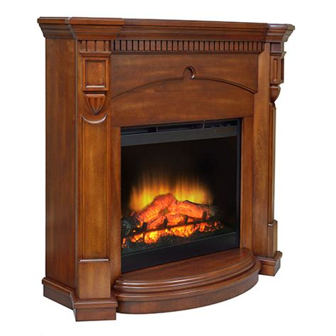 large electric fireplace with mantel heats up to 400 sq ft of supplemental heat thermostat