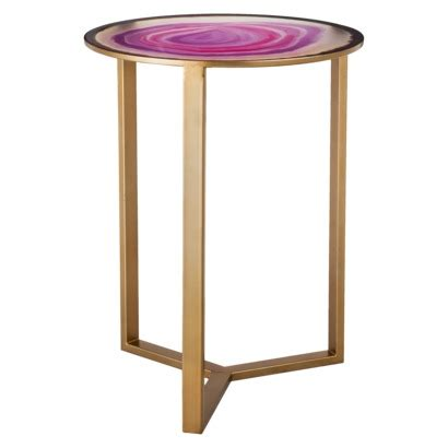 Pink Accent Table Threshold Glass Faux Agate Accent Table Pink Targetgoesglam Targetstyle Styling